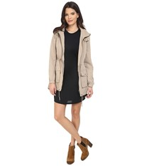 Only Starry Long Spring Parka Silver Mink Women's Coat Beige
