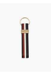 Thom Browne Men's Tri Stripe Leather Key Ring