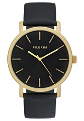 Pilgrim Watch Goldcoloured Black