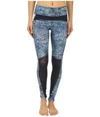 Zobha Fitted Leggings W Contrast Blocking Diva Blue Women's Casual Pants