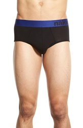 Men's Naked Tencel Blend Briefs Black Sodalite Blue