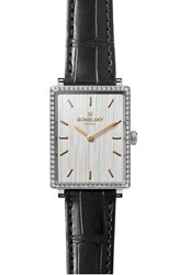 The Gomelsky Women's Shirley Fromer Diamond Bezel Leather Strap Watch 32Mm