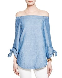 Free People Show Some Shoulder Tunic Top Light Blue