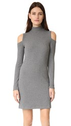 Splendid Ribbed Knit Dress Dark Heather Grey