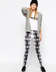 A Question Of Geo Tribal Leggings White
