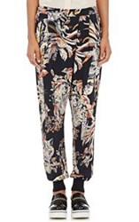 Stella Mccartney Women's Cat And Floral Print Harem Pants Black