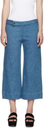 Nomia Blue Wide Leg Denim Trousers