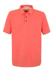 Racing Green Ilkley Plain Pique Polo Coral