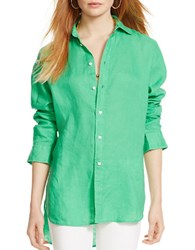Polo Ralph Lauren Linen Button Down Shirt Green