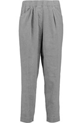Dkny Linen Blend Tapered Pants Gray