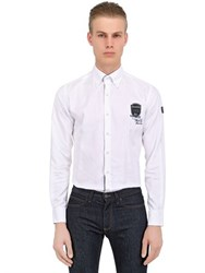 Paul And Shark Fit Embroidery Cotton Oxford Shirt