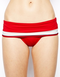 Huit Sunset Stripe Bandeau Fold Over Brief Bikini 4161Redcarpet