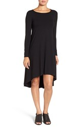 Eileen Fisher Women's Jersey Asymmetrical Hem Ballet Neck Shift Dress
