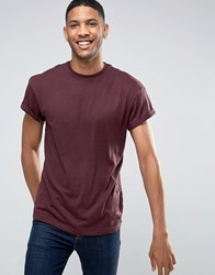 New Look T Shirt In Burgundy Burgundy Red