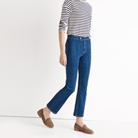 Madewell Rivet And Thread Pintuck Demi Boot Jeans