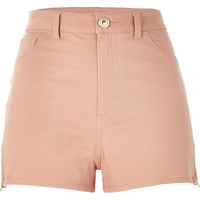 River Island Womens Light Pink High Waisted Nori Shorts