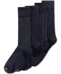 Gold Toe 4 Pack. Dot Dress Socks Midnight