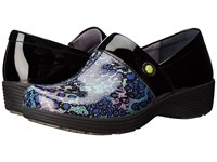 Work Wonders By Dansko Camellia Multi Leopard Patent Women's Clog Shoes Blue