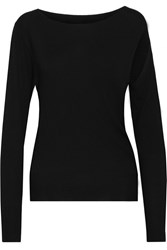 Maison Martin Margiela Cutout Fine Knit Sweater Black
