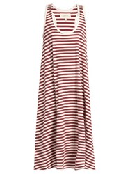 The Great Swing Striped Cotton Jersey Dress Cream Multi