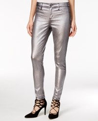 Tinseltown Juniors' Metallic Coated Skinny Jeans Silver