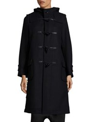 Noir Kei Ninomiya Wool Blend Toggle Coat Black