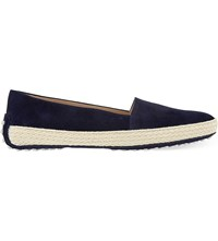 Tod's Gom Pantofola Suede Driving Shoes Navy