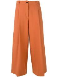 Maurizio Pecoraro Cropped Trousers Yellow Orange