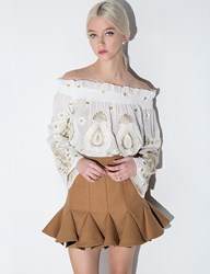 Pixie Market Brown Trumpet Mini Skirt