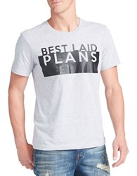 William Rast Best Laid Plans Graphic Tee Light Grey