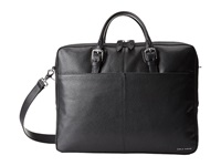 Cole Haan Pebble Zip Top Attache Black Briefcase Bags