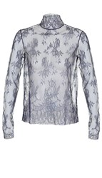 Tibi Chantilly Lace Turtleneck