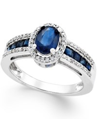 Macy's Sapphire 1 3 4 Ct. T.W. And Diamond 1 4 Ct. T.W. Ring In 14K Gold Also In Emerald And Ruby Sapphire And White Gold