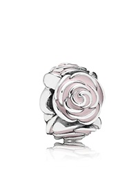 Pandora Design Pandora Charm Sterling Silver And Enamel Rose Garden Moments Collection Silver Pink
