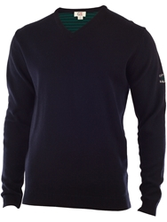 Cutter And Buck Lambswool V Neck Sweater Navy