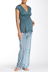 Majamas Genna Maternity Nursing Pajama Set Multi