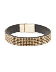 Design Lab Lord And Taylor Stone Accented Magnetic Bracelet Grey