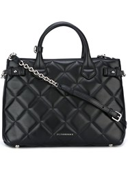 Burberry 'Banner' Quilted Tote Bag Black