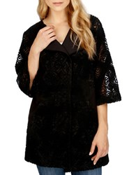 Lucky Brand Pattern Embroidered Jacket Black