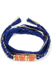 Aurelie Bidermann Takayama Gold Plated Royal Blue