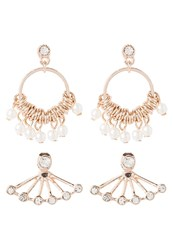 Miss Selfridge 2Pack Earrings Rose Goldcoloured
