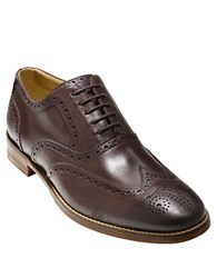 Cole Haan Cambridge Leather Wingtip Oxfords Dark Brown