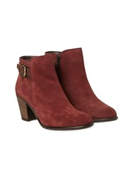 White Stuff Morgan Side Buckle Ankle Boot Burgundy