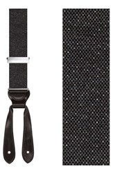Trafalgar 'Denegal' Wool Blend Suspenders Gray
