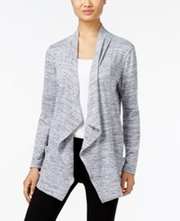 Styleandco. Style Co. Draped Open Front Cardigan Only At Macy's Grey