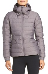 The North Face Women's Moonlight Water Repellent 550 Fill Power Down Jacket Rabbit Grey Heather