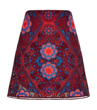 Sandro Lily Floral Lace Skirt Female Red