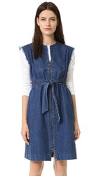 Sea Tied Denim Dress Indigo