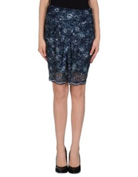 Le Ragazze Di St. Barth Knee Length Skirts Dark Blue