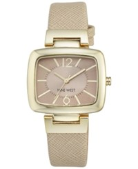 Nine West Women's Natural Leather Strap Watch 36Mm Nw 1856Ntnt